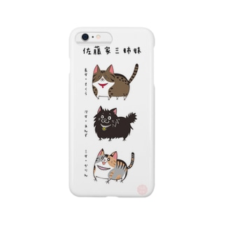 iPhone6Plus用 [佐藤家ペットシリーズ] にゃんこ三姉妹 Smartphone cases