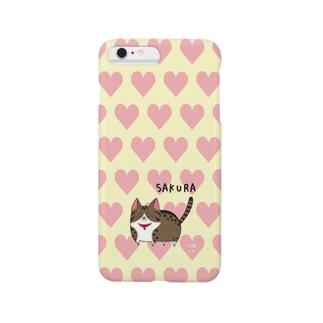 iPhone6 Plus用[佐藤家ペットシリーズ] ハートとさくらちゃん Smartphone cases
