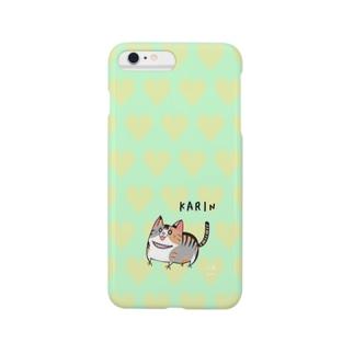 にゃんこグッズ●佐藤家のiPhone6 Plus用 [佐藤家ペットシリーズ] ハートとかりんちゃん Smartphone cases
