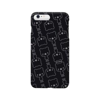 ニヒルなクマ柄(BLACK) スマートフォンケース