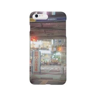 新宿西口行きバス停 Smartphone cases