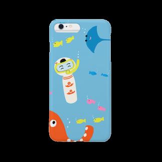 仙台弁こけしの仙台弁こけし(海) Smartphone cases