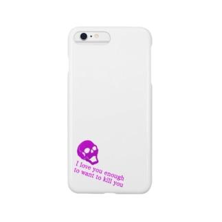 スカルと英字 Smartphone cases