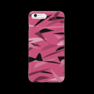 rurisapapa のピンク迷彩 Smartphone cases