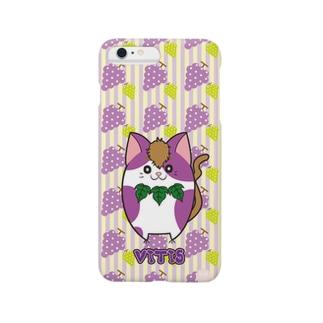 iPhone6 Plus用 [フルーツ猫シリーズ]ぶどうの猫・ヴィーティス スマートフォンケース