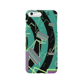 RGB MATRIX グリーンストライプ Smartphone cases