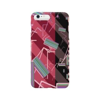 RGB MATRIX ピンクストライプ Smartphone cases