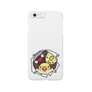 なかよしインコ【まめるりはことり】 Smartphone cases