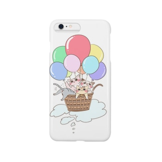 cat balloon pastel Smartphone cases