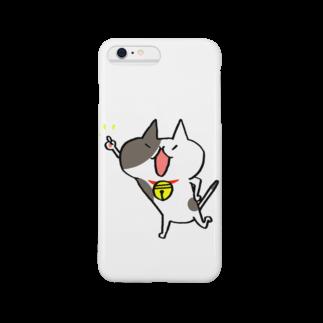 しんご@ねこLINEスタンプ販売中の山口県のぶちちゃん1 Smartphone cases