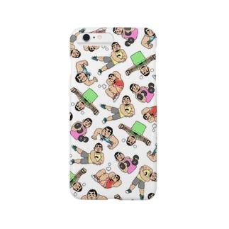ひげおとめさんiPhoneケース(White) Smartphone cases
