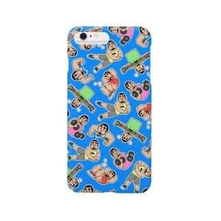 ひげおとめさんiPhoneケース(Blue) Smartphone cases
