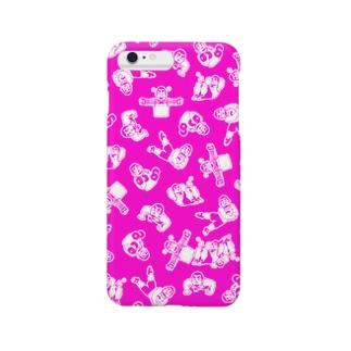 ひげおとめさんiPhoneケース(Pink) Smartphone cases