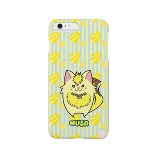 iPhone6Plus用[フルーツ猫シリーズ] バナナの猫・ムサ スマートフォンケース