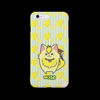 にゃんこグッズ●佐藤家のiPhone6Plus用[フルーツ猫シリーズ] バナナの猫・ムサ Smartphone cases