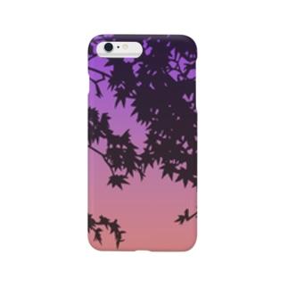 紅葉の切り絵 Smartphone cases