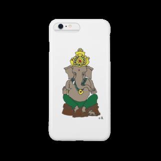 Happy Elephantのガネーシャ スマートフォンケース