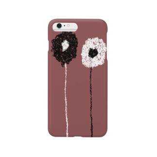 落書き「お花」 Smartphone cases