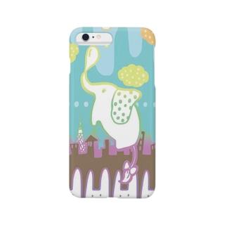 空飛ぶゾウさん Smartphone cases