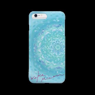 WAKA NO E GOODSのblue in blue  Smartphone cases