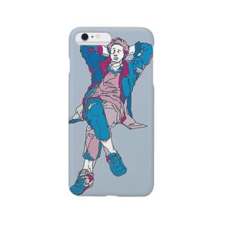 後ろで腕組んでる青男子 Smartphone cases