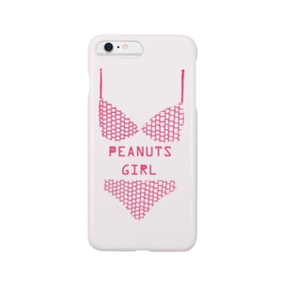 PEANUTS GIRL ビキニ (桜) Smartphone cases