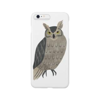 森のフクロウ Smartphone cases