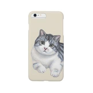 「隅っこのムー」 / ライトベージュ Smartphone cases