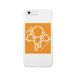 I want to be free!!!(白抜き) Smartphone cases