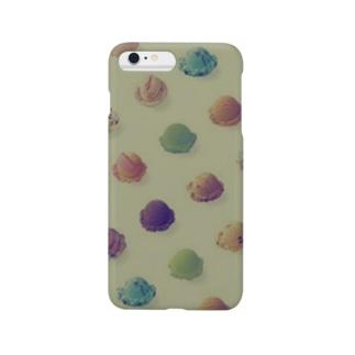 Ice iPhone カバー<グリーン> Smartphone cases