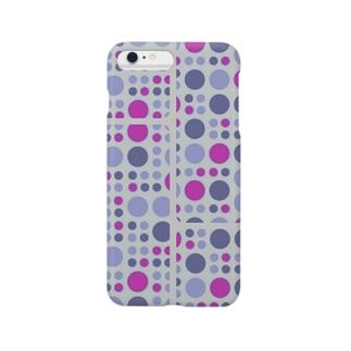 幾何学ドット iPhone カバー<ブルー×ピンク> Smartphone cases