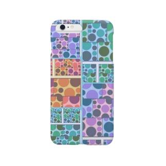 幾何学ドット iPhone カバー<カラフル2> Smartphone cases