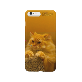 Cat Cafe ねころびの茶々丸iPhoneケーススマートフォンケース
