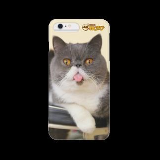Cat Cafe ねころびのきよもりiPhoneケース スマートフォンケース