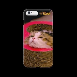 Cat Cafe ねころびの小太狼iPhoneケース スマートフォンケース
