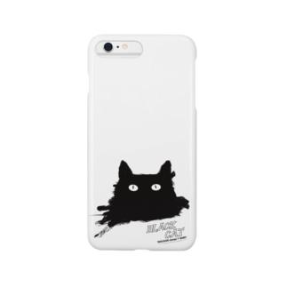 BLACK CATシリーズ(ネコ/猫) Smartphone cases