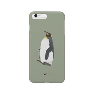 飛べない鳥のキングペンギン Smartphone cases