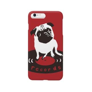 パグのパン粉社長(赤色) Smartphone cases