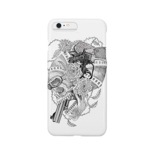 Pistol skull rose Smartphone cases