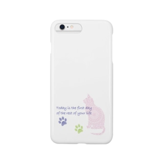 Cait Sith(ピンク) Smartphone cases