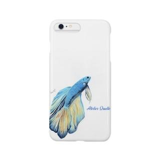 ハーフムーンマスタードベタ Smartphone cases