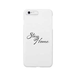 いつも心にstayhome(black/黒) Smartphone cases