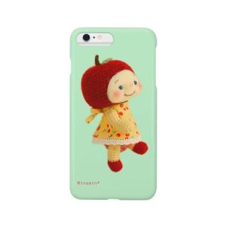 Minamin*-フルリちゃん④(グリーン) Smartphone cases