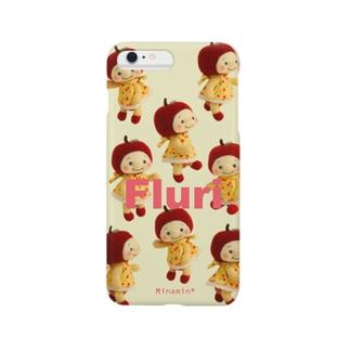 Minamin*-フルリちゃん⑤(クリーム) Smartphone cases
