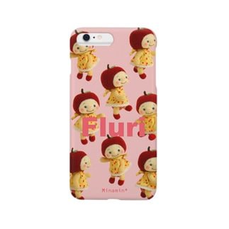 Minamin*-フルリちゃん⑤(ピンク) Smartphone cases