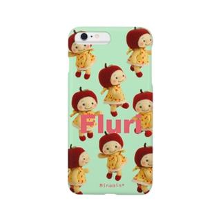 Minamin*-フルリちゃん⑤(グリーン) Smartphone cases