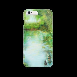 おぼんじゅーる公式グッズの湖の魔女スマホカバースマートフォンケース