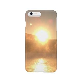 朝日と海と霧と… Smartphone cases
