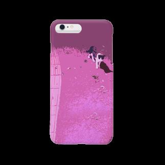 MamiMomoの猫と歩道 Smartphone cases