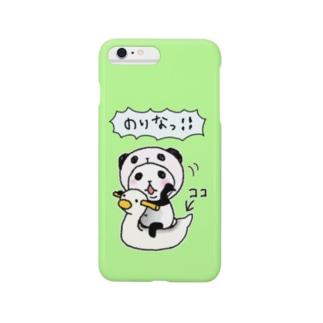 パンダinぱんだ(おまる) スマートフォンケース